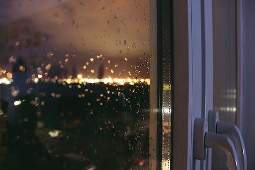 Ingyenes stockfotó ablakok, eső, exponálás, sötét témában