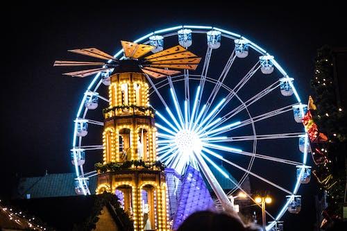 Fotobanka sbezplatnými fotkami na tému jarmočný, karneval, osvetlený, ruské koleso