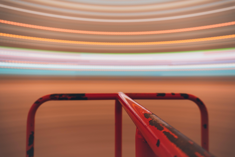Foto profissional grátis de barra de ferro, borrão de movimento, fachos de luz, merry-go-round