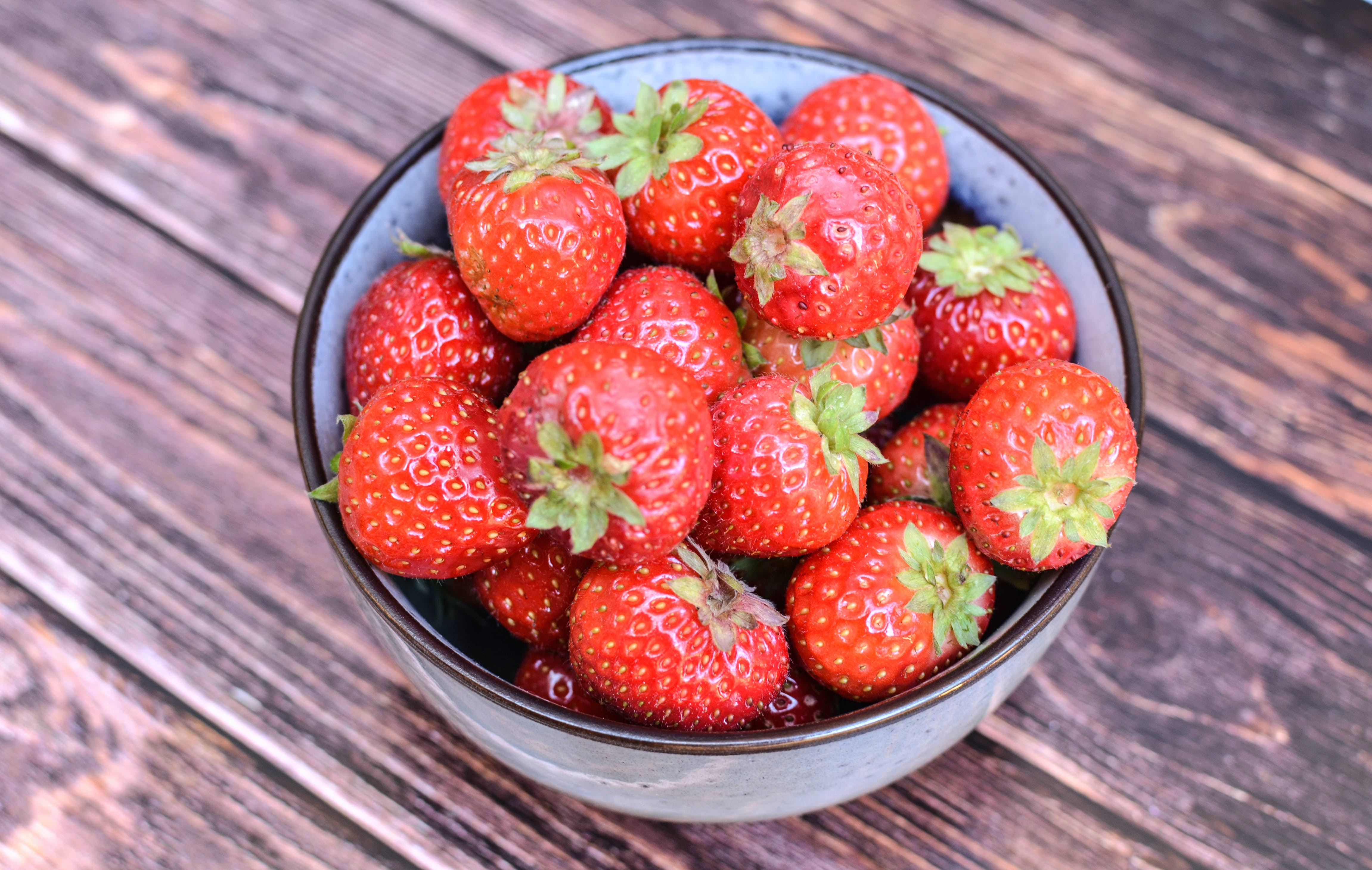 Close-Up Photo Of Strawberries On Bowl
