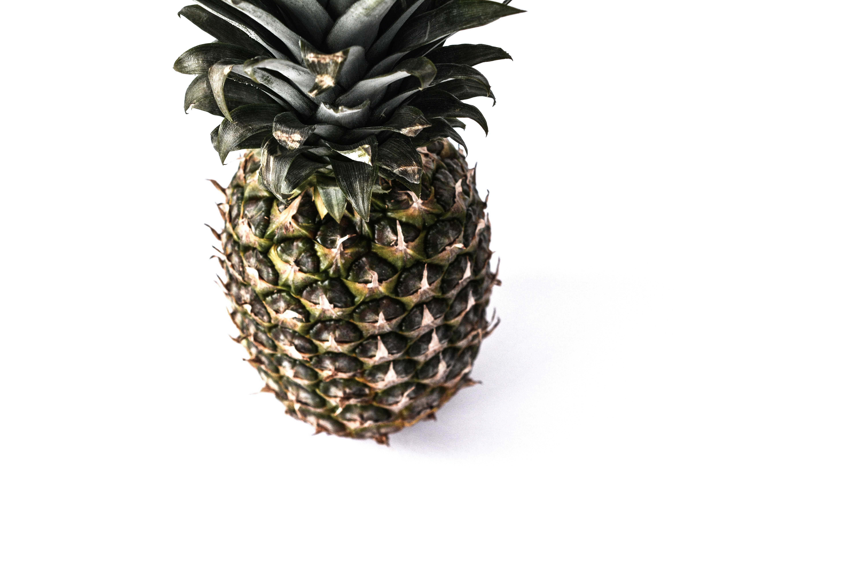 Free stock photo of pineapple, white background