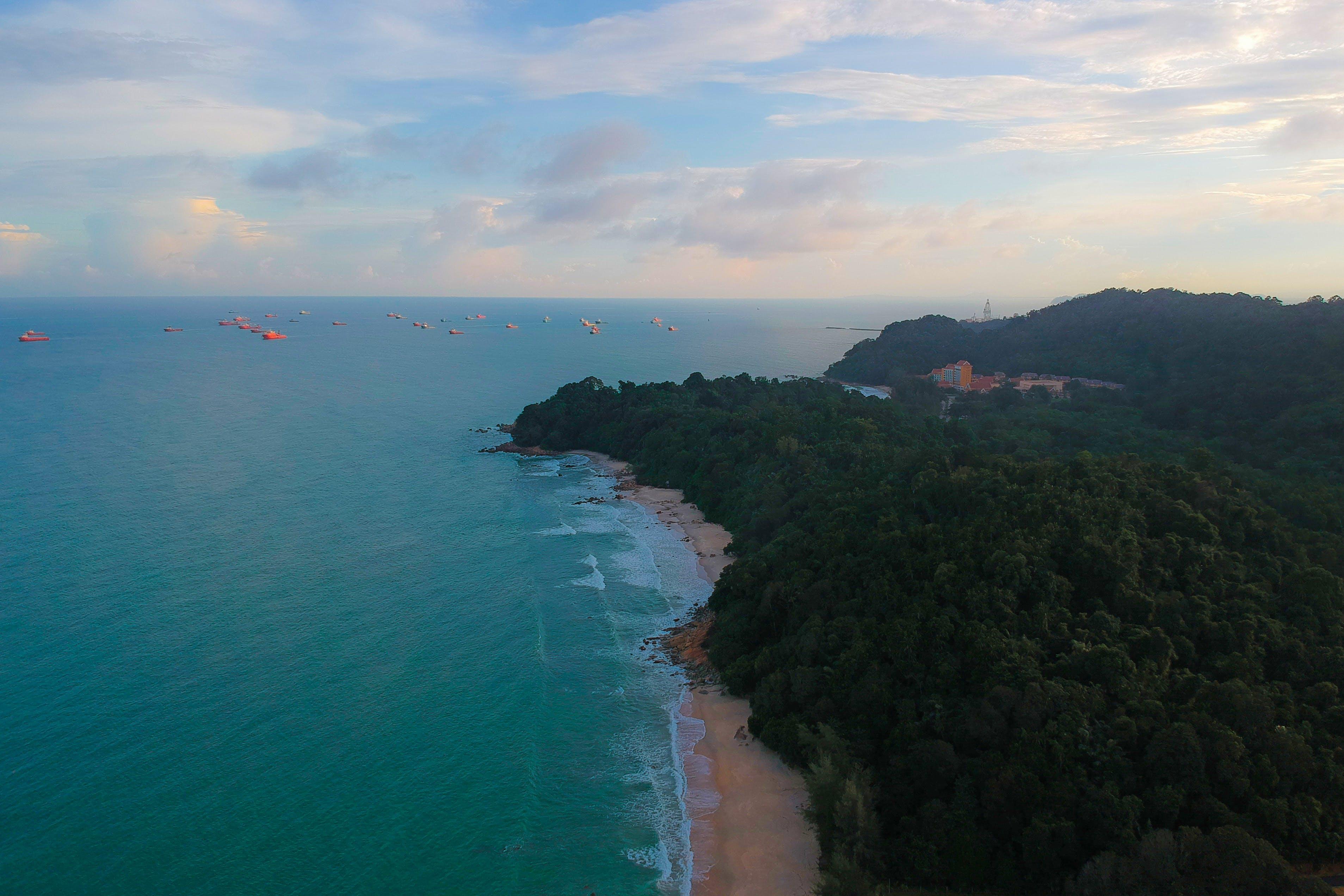 Gratis lagerfoto af bugt, dagslys, droneoptagelse, hav