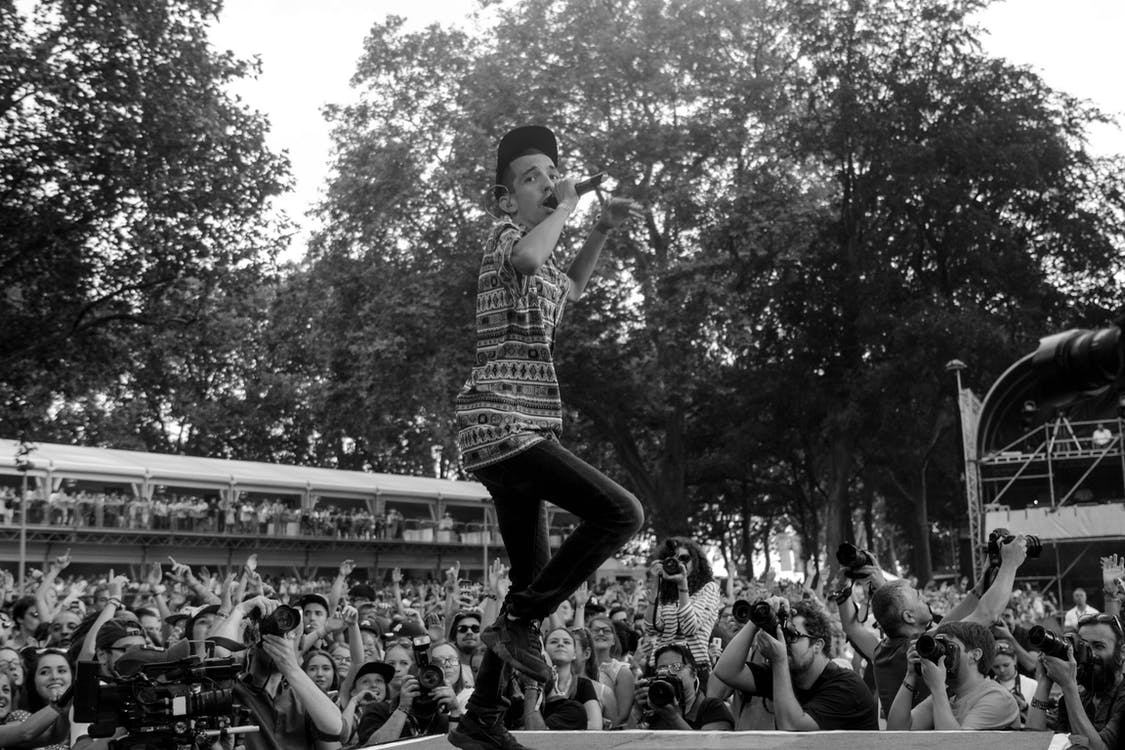 Grayscale Photography on Concert