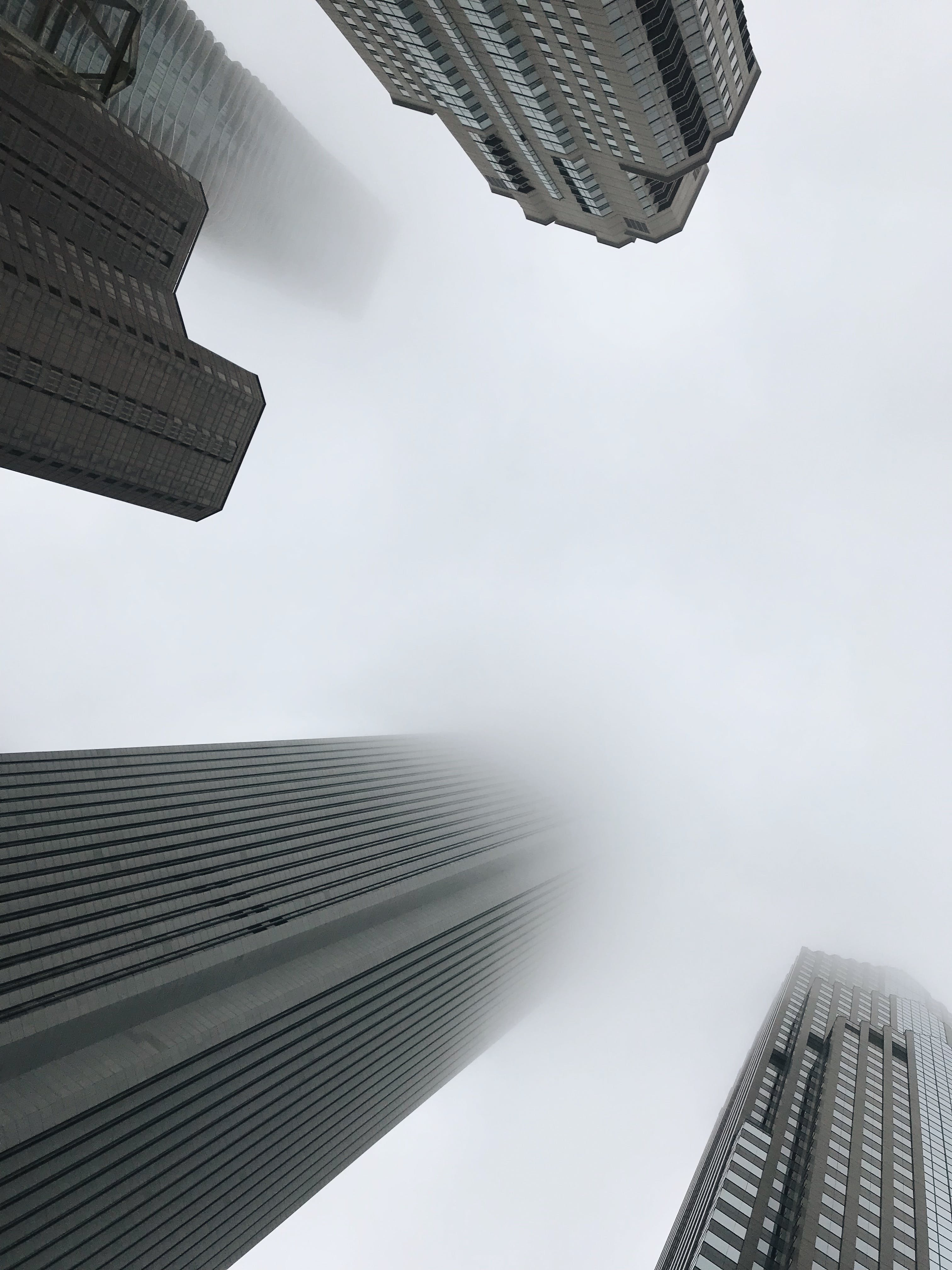 Worm's Eye View Photography of Buildings