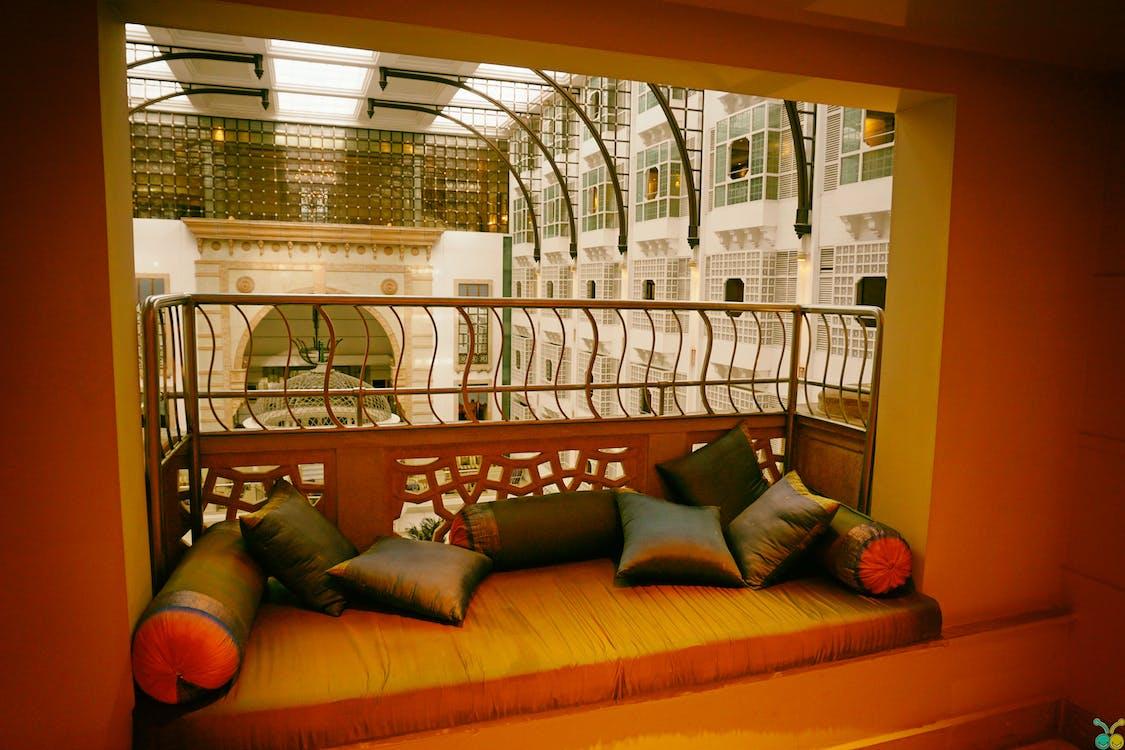 Grey Pillows and Bolster on Sofa