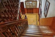 wood, stairs, steps
