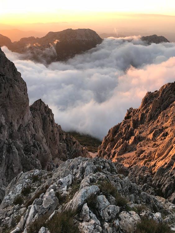 bjerg, dagslys, høj