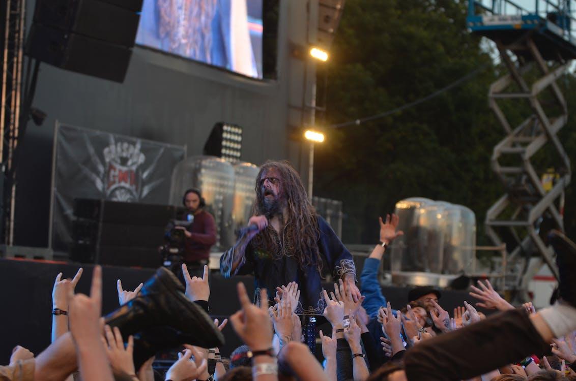 folk, hænder, koncert