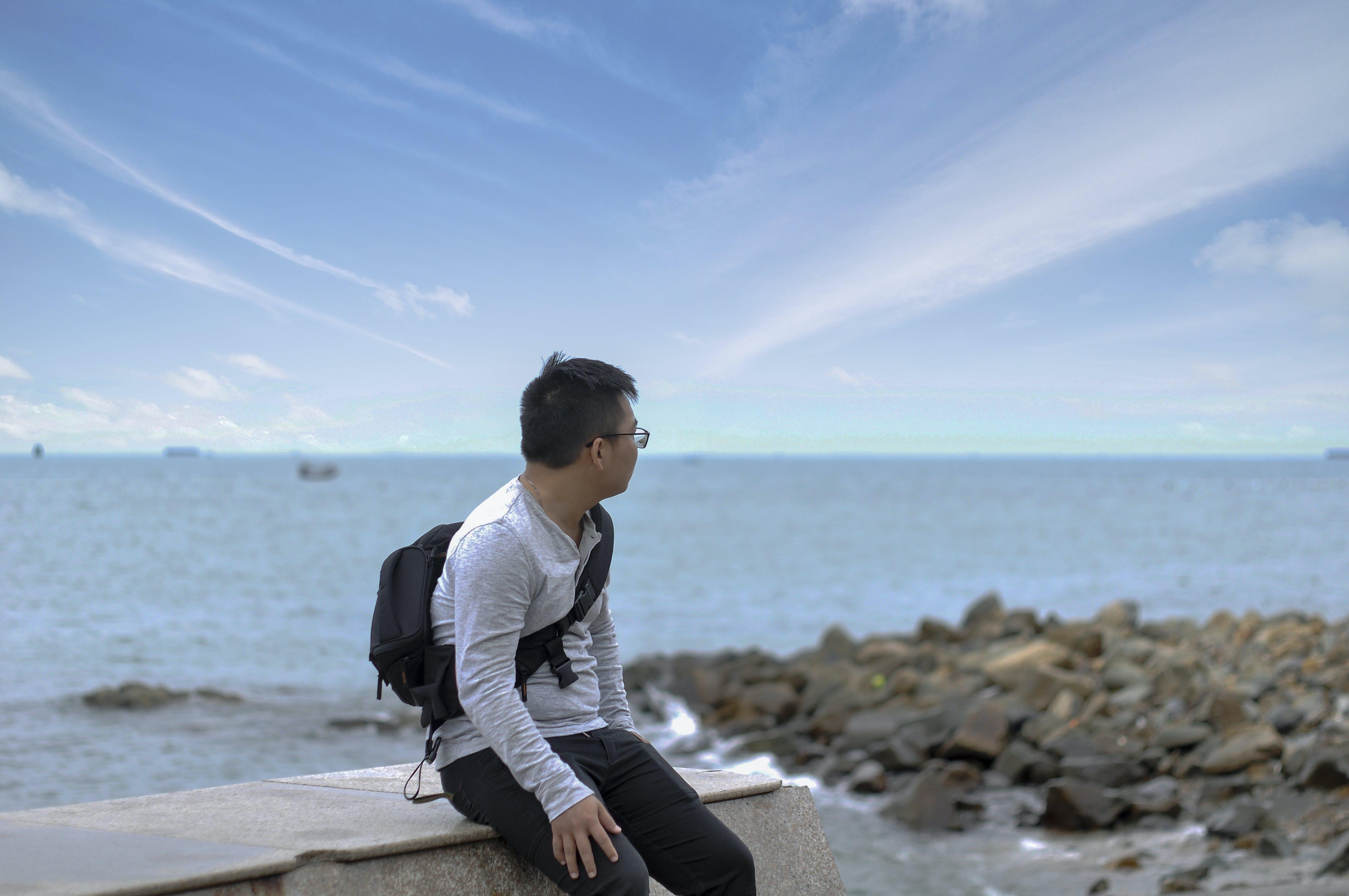 Free stock photo of #vietnamese, beach, blue sky, me