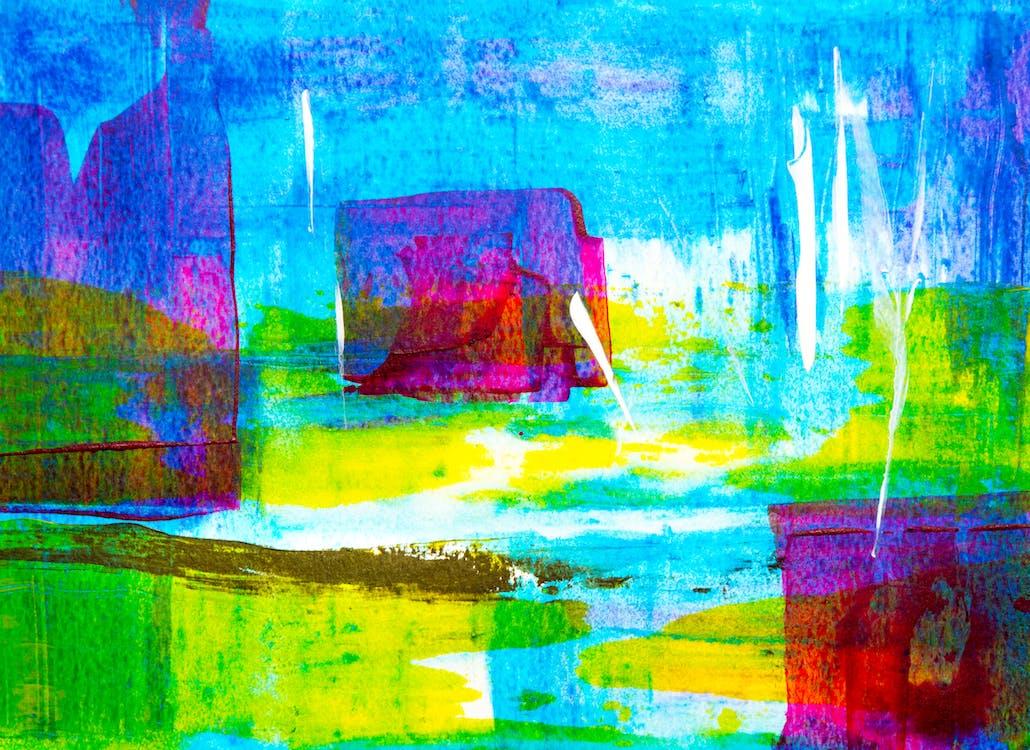 abstrakti ekspressionismi, abstrakti maalaus, akryyli