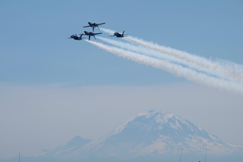 Jet Plane Air Show during Daytime