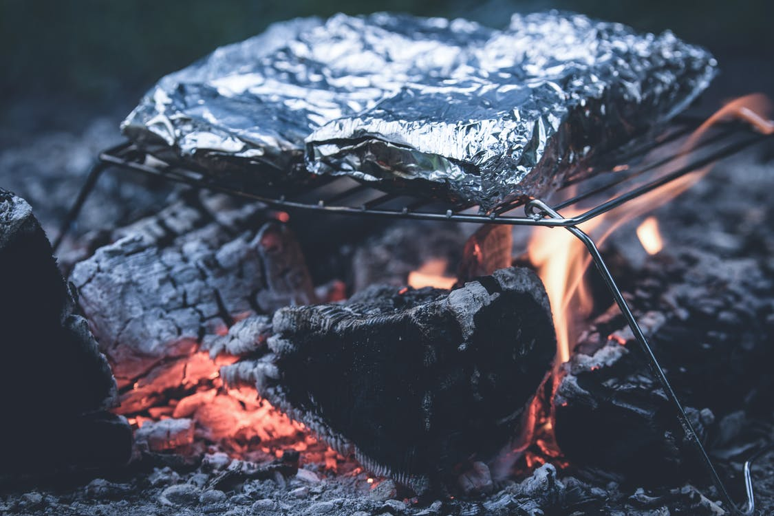 Foil Cooked on Metal Grill