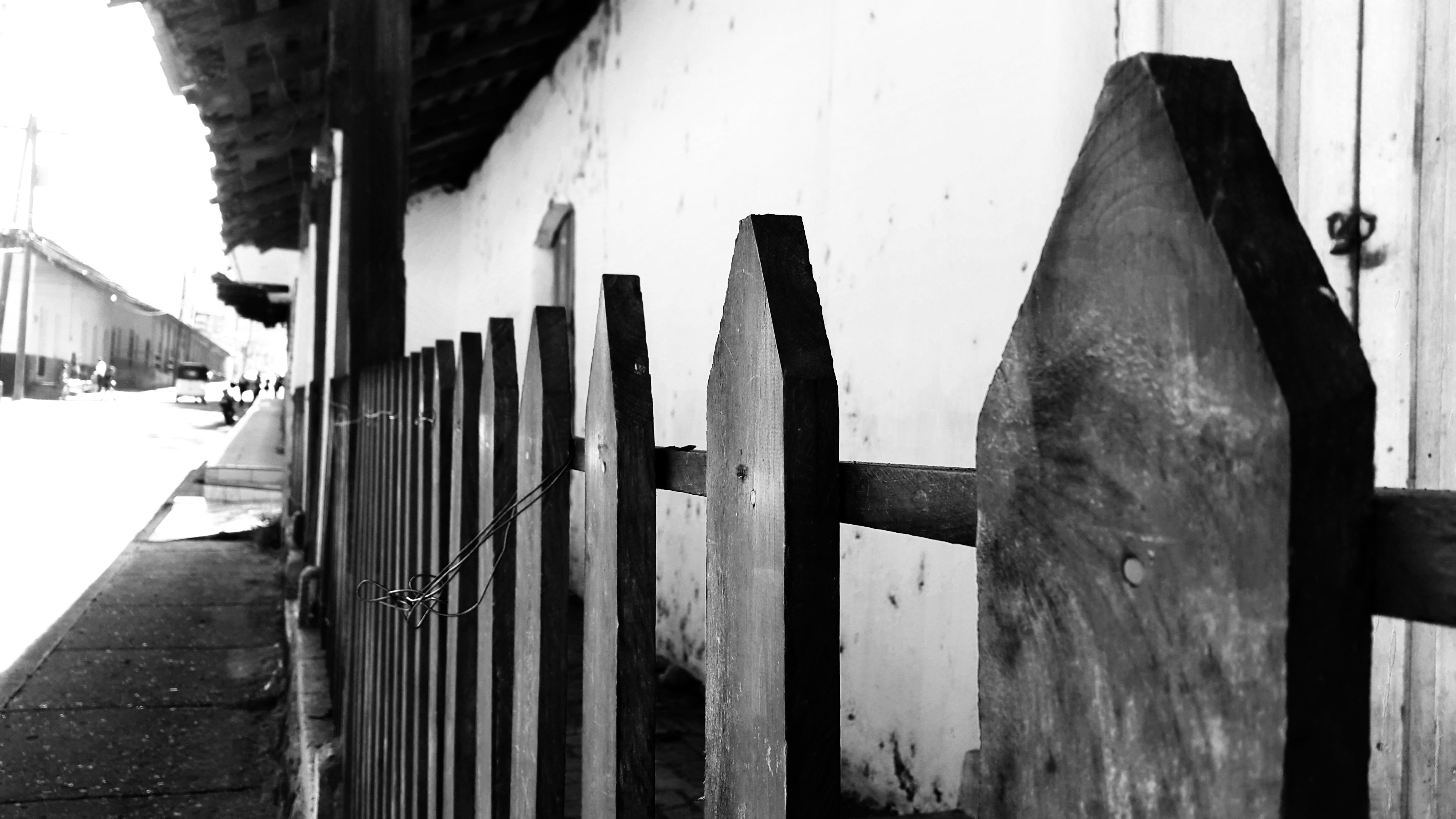Free stock photo of antique, black and white, fence, honduras