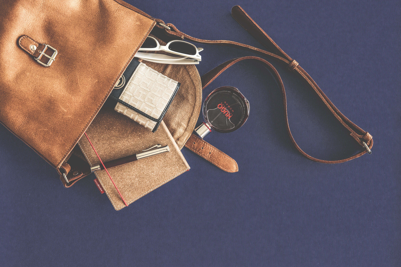 brieftasche, container, damenmode