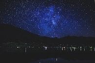 light, landscape, night