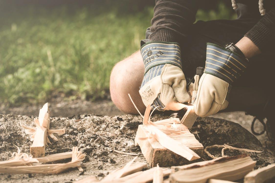 adulte, bois, bushcraft
