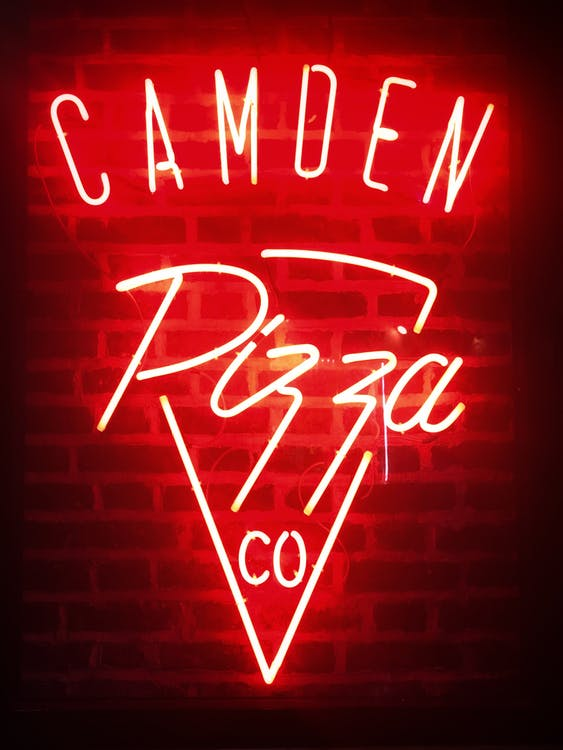 Red Camoen Pizza Neon Light Signage
