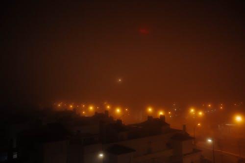 Kostenloses Stock Foto zu nebel, neblig, stadt