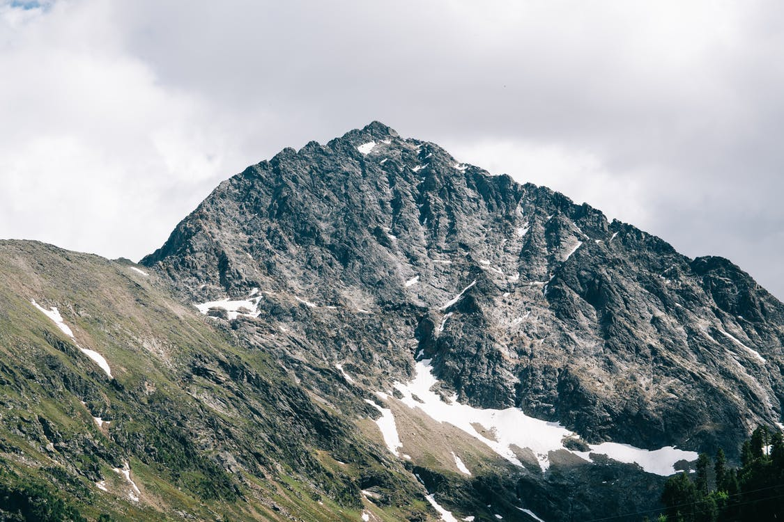 Grey and Green Mountain