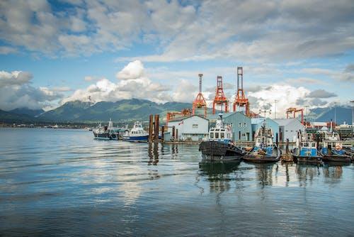 カニ公園, ボート, 反射, 山の無料の写真素材