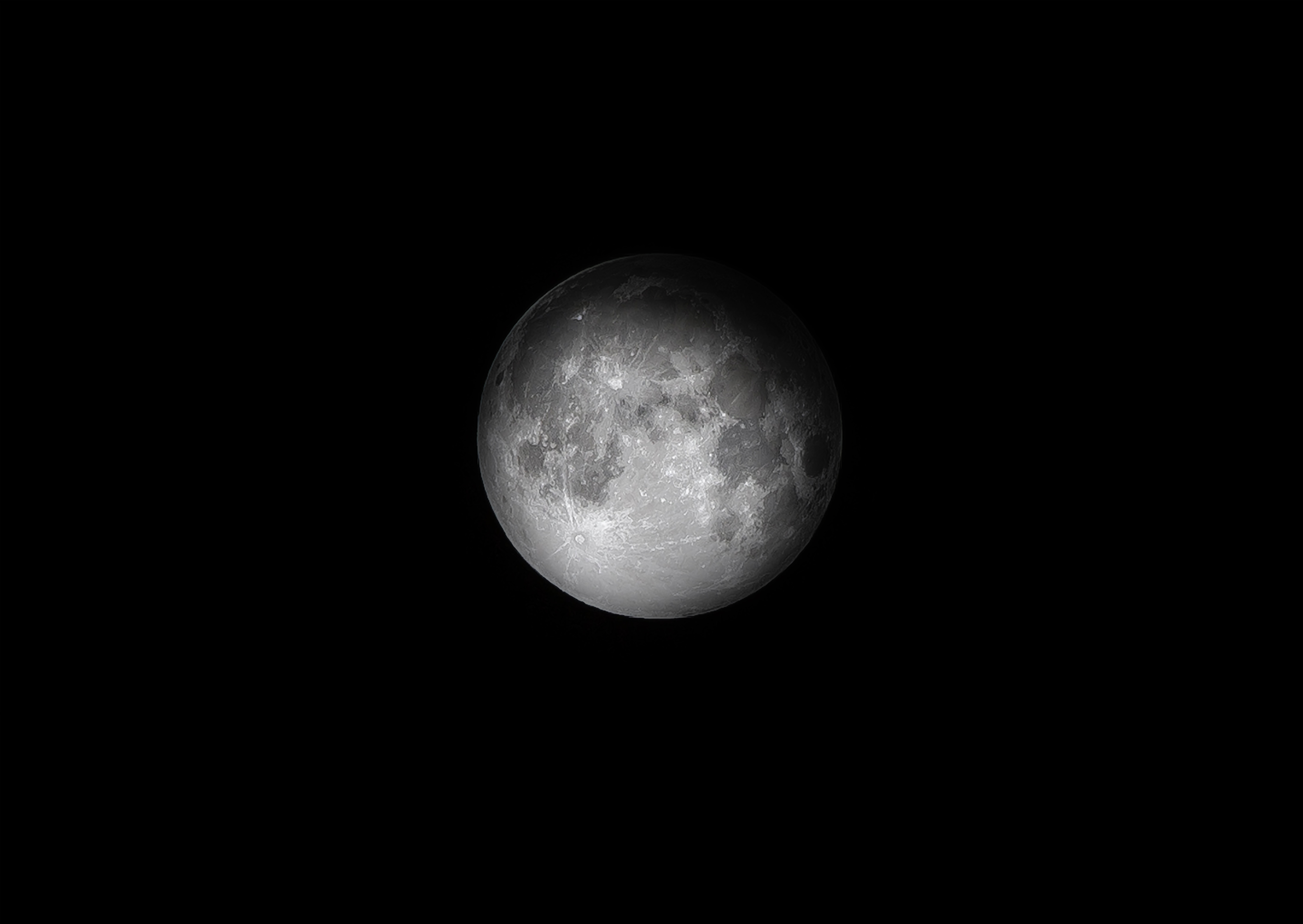 Free stock photo of black-and-white, dark, moon