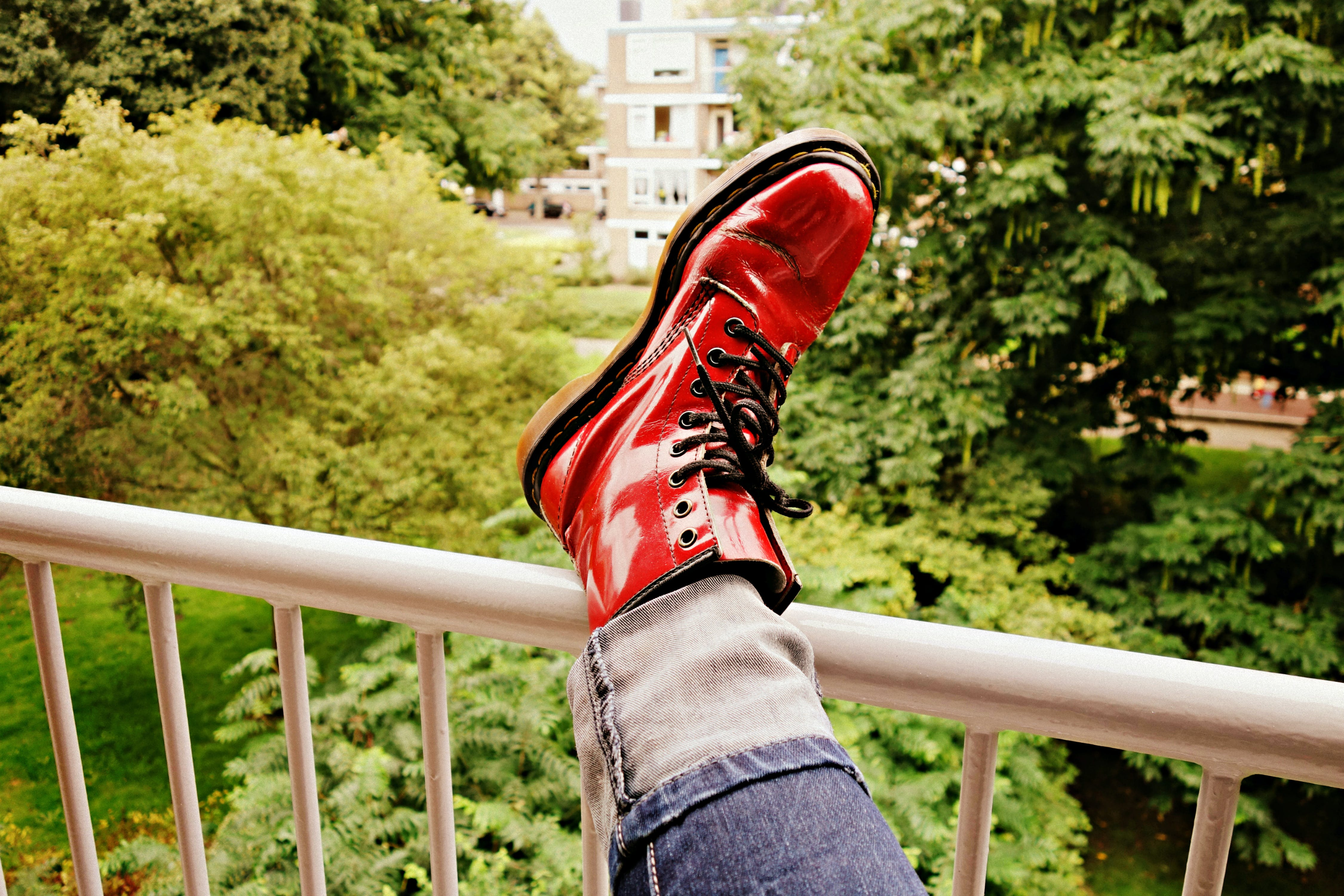 Free stock photo of fashion, red, park, foot