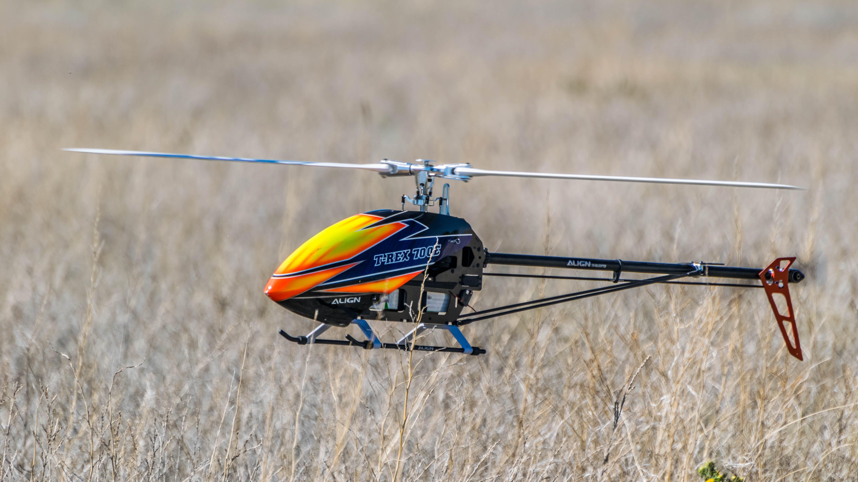 drone, field, grass