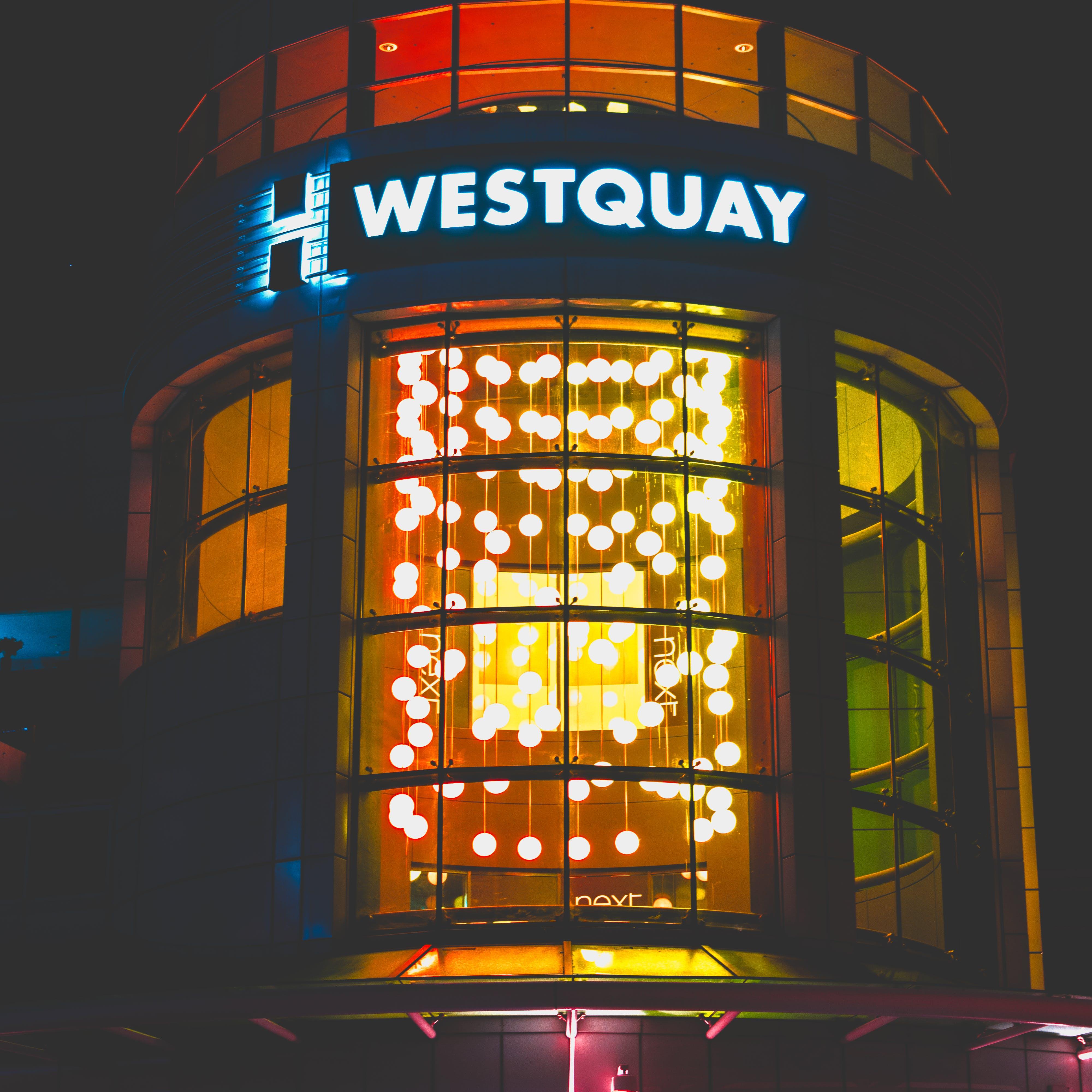 Lighted Westquay Neon Light Signage