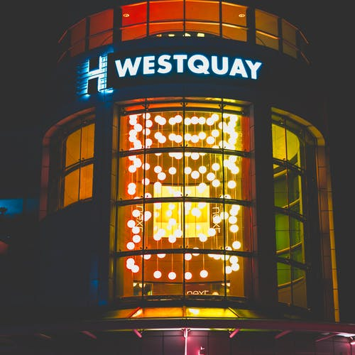 Lighted Westquay Neon Light Signage