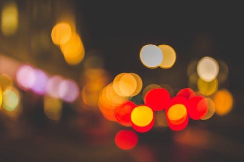 Gratis lagerfoto af cirkler, farverig, luftslør, lys
