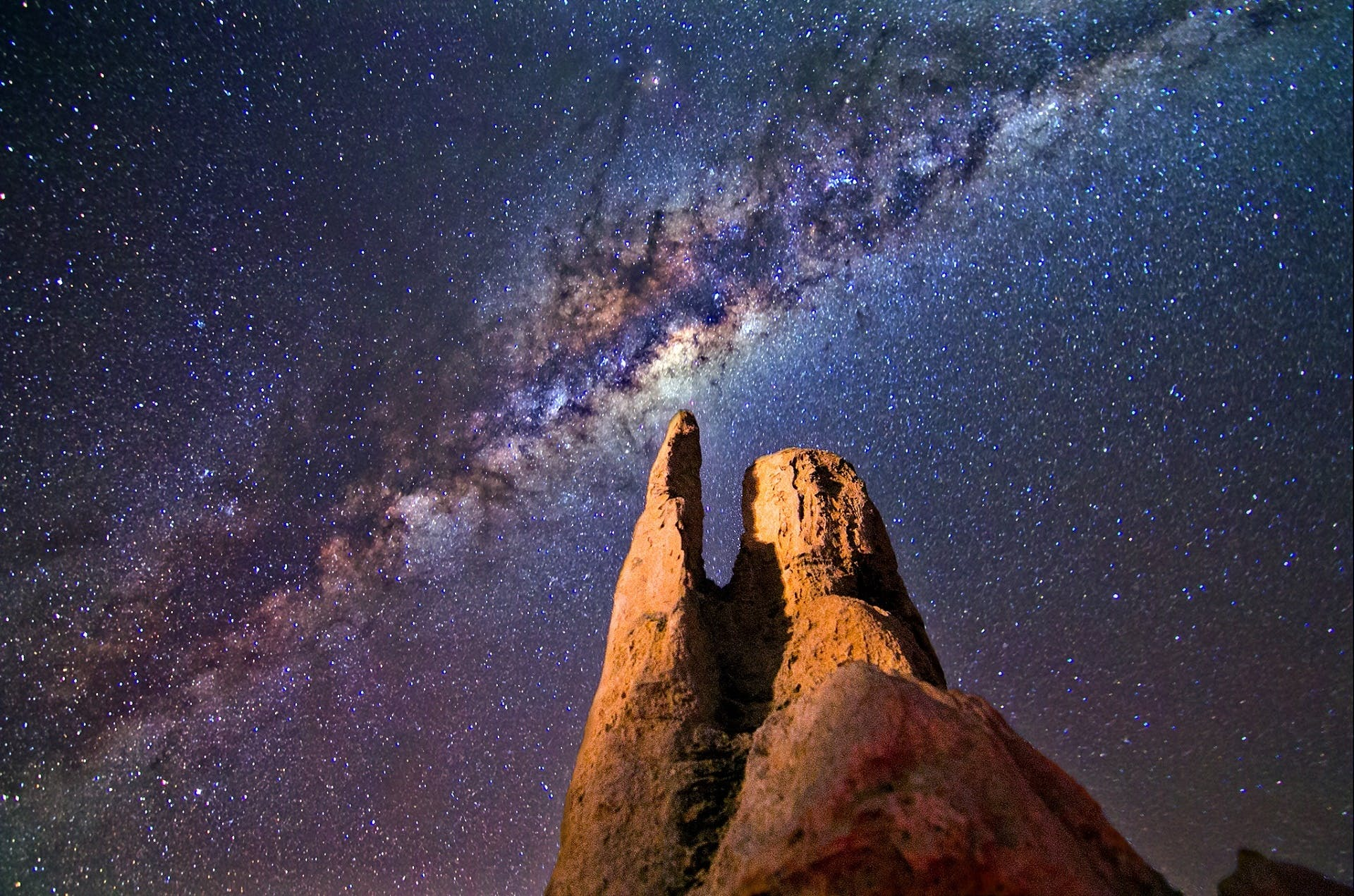 Rock Formation during Night Time