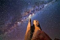 light, night, space