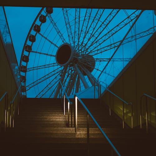 Empty Stairs Near Ferris Wheel