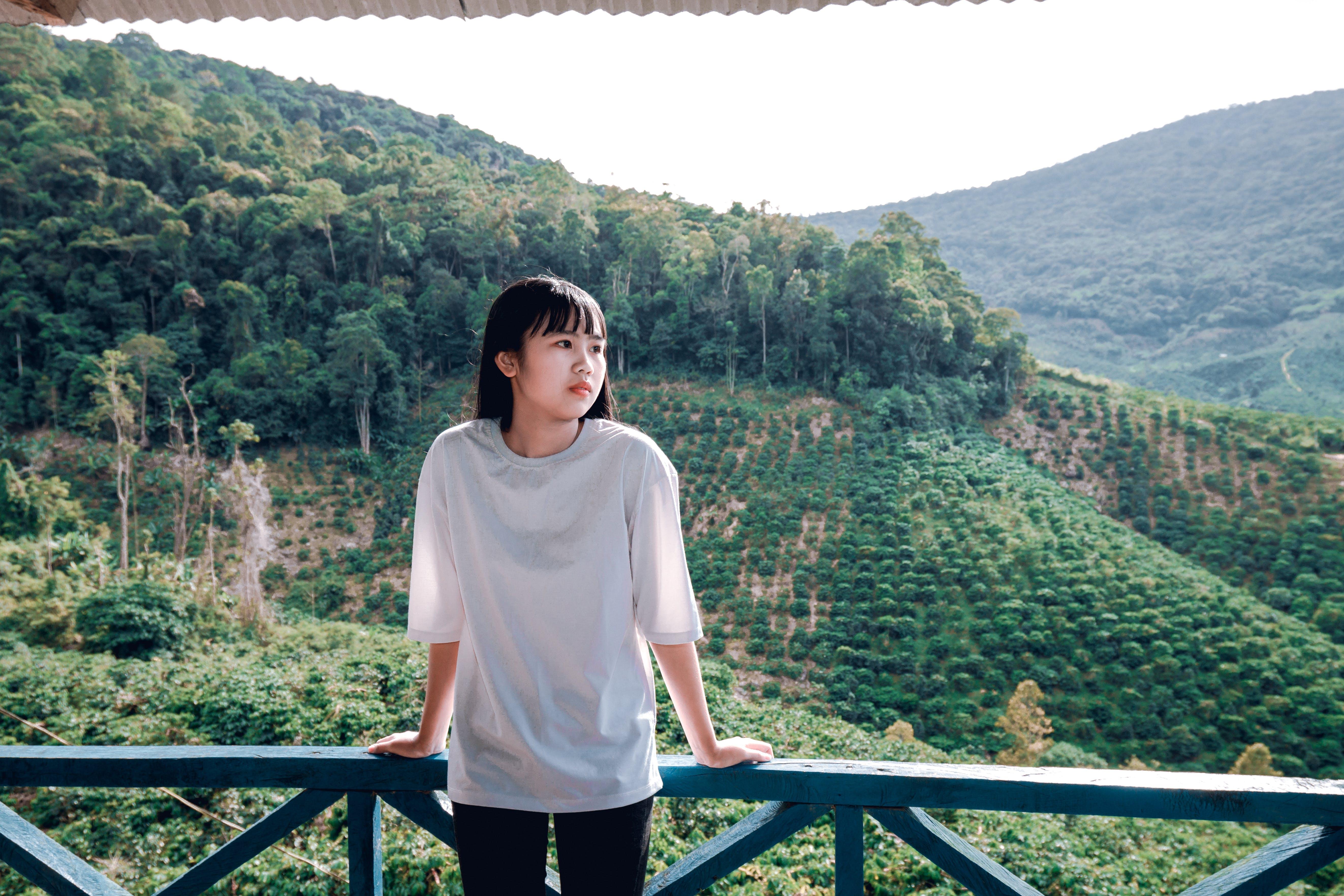Free stock photo of asian girl, balcony, beautiful, beauty