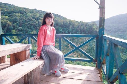 アジアの女性, きれいな女性, くつろぎ, ブルネットの無料の写真素材