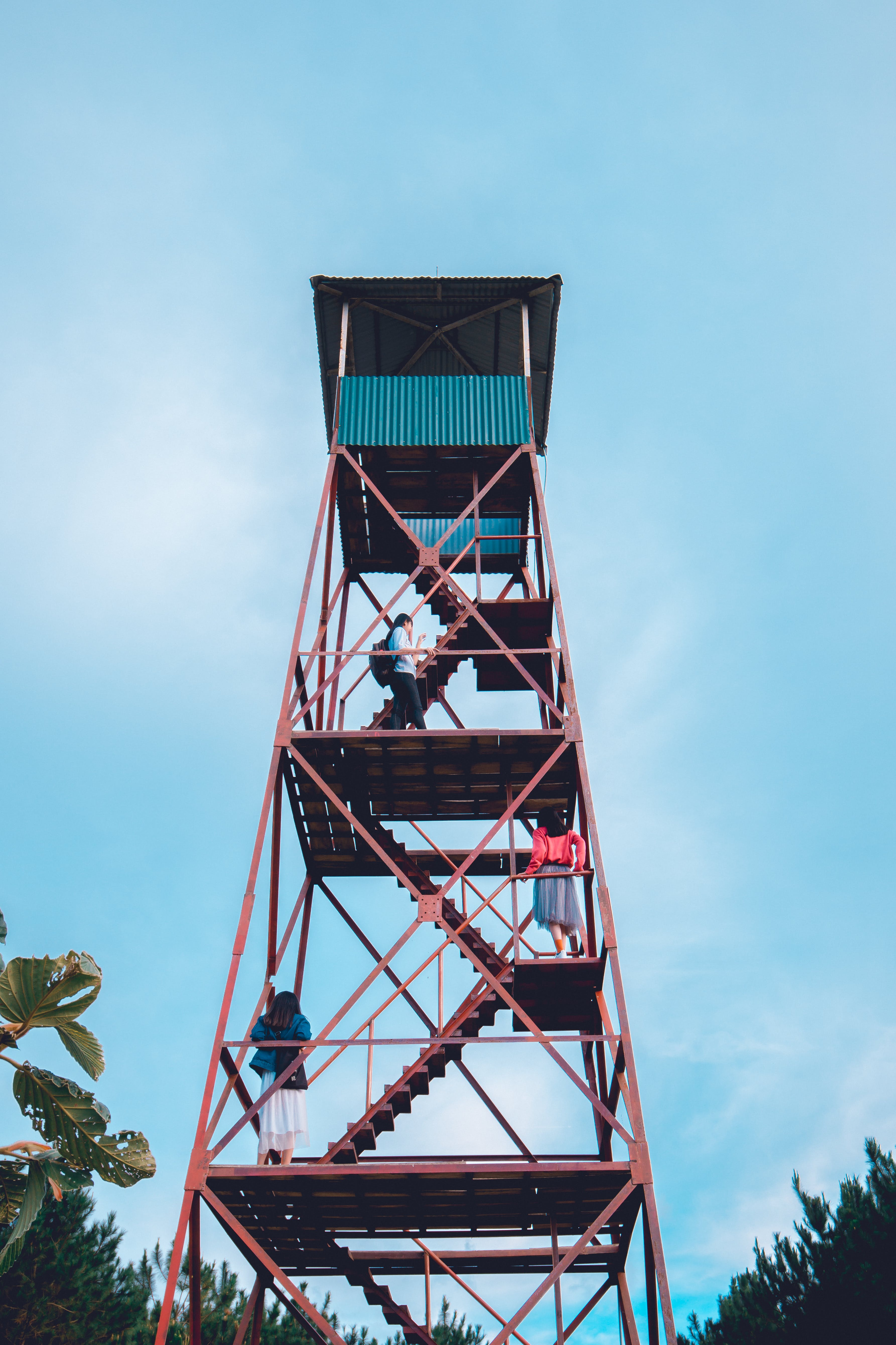 People on Watch Tower