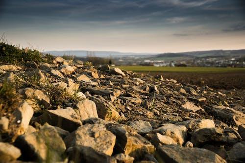 Ilmainen kuvapankkikuva tunnisteilla aamu, kenttä, kivet, lähikuva