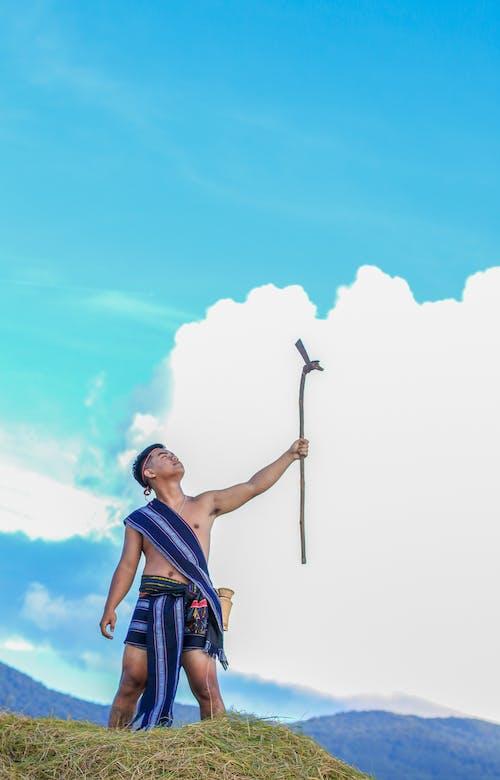 Foto stok gratis awan, cawat, dewasa, gaya