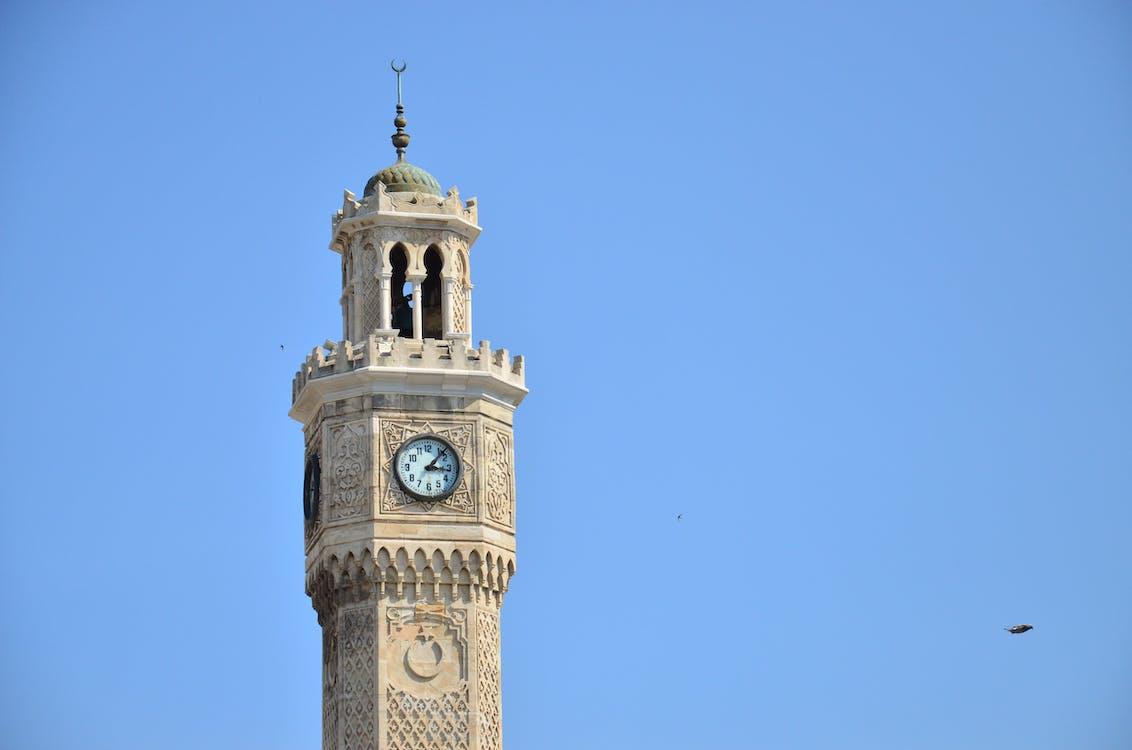 rozhledna, saat kulesi izmir modrá obloha