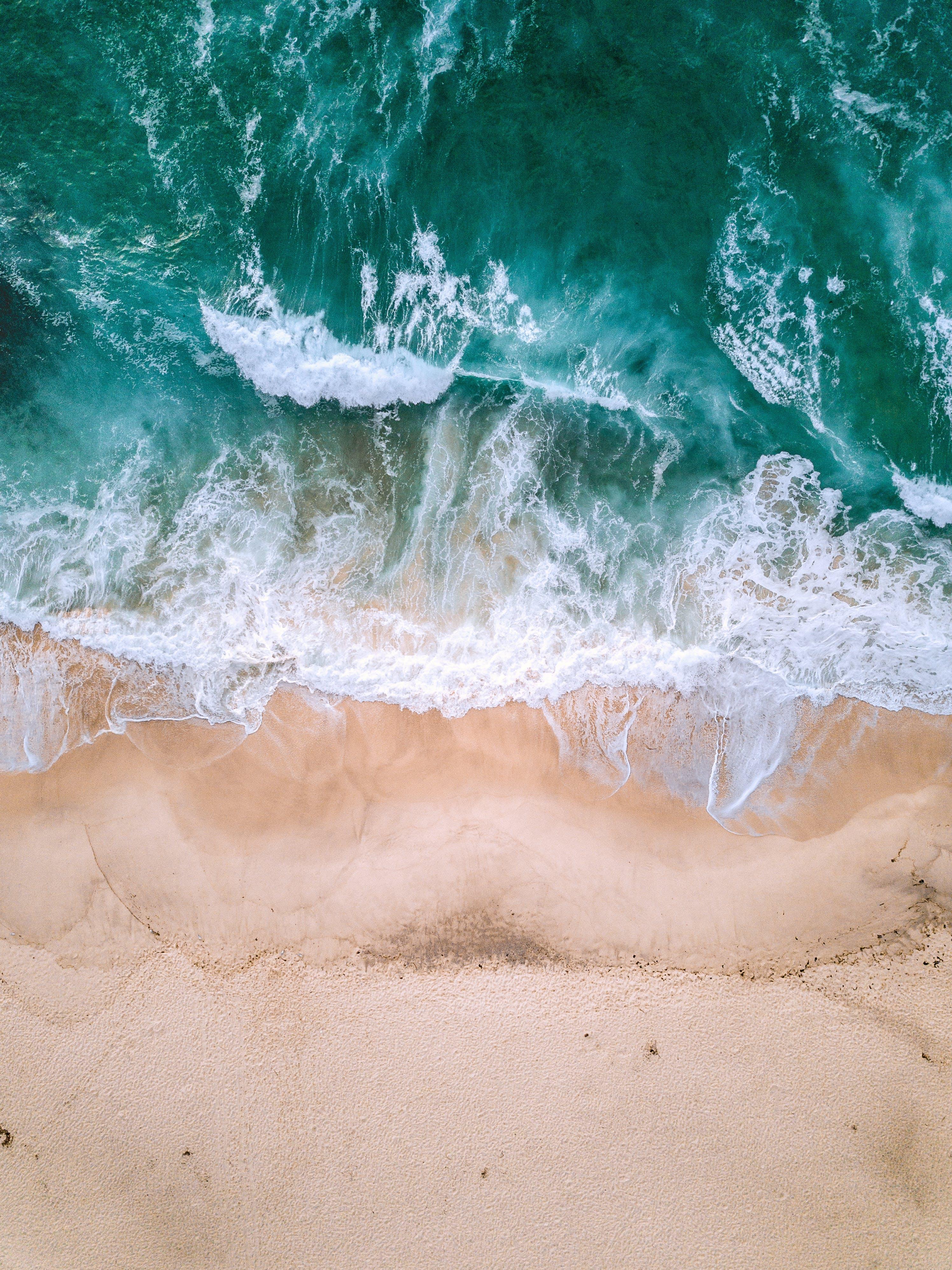 Aerial Photography of Seashore