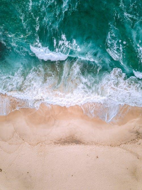 Ảnh lưu trữ miễn phí về ánh sáng ban ngày, bắn từ trên không, biển, bờ biển