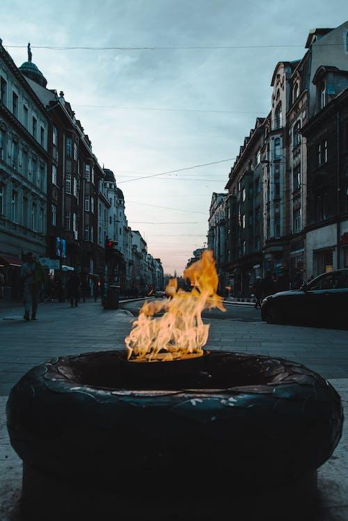 Imagine de stoc gratuită din ardere, clădiri, eterne foc, flacără