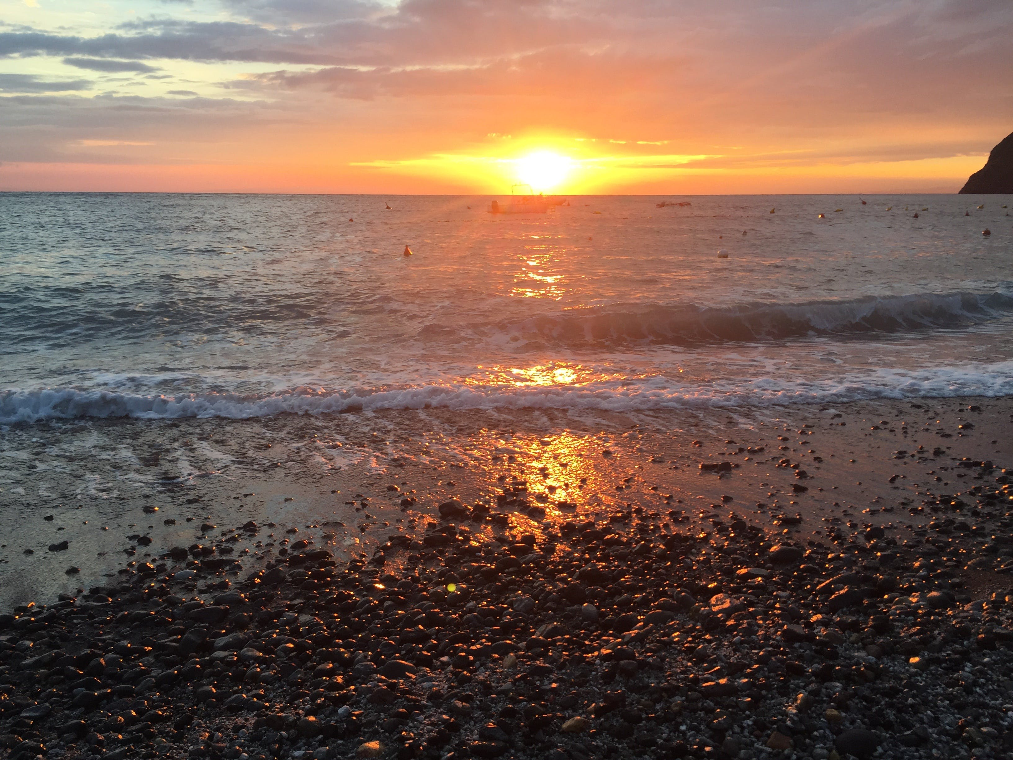 Free stock photo of beach clouds  dawn  dusk  horizon  landscape, italy, lipari, seawater
