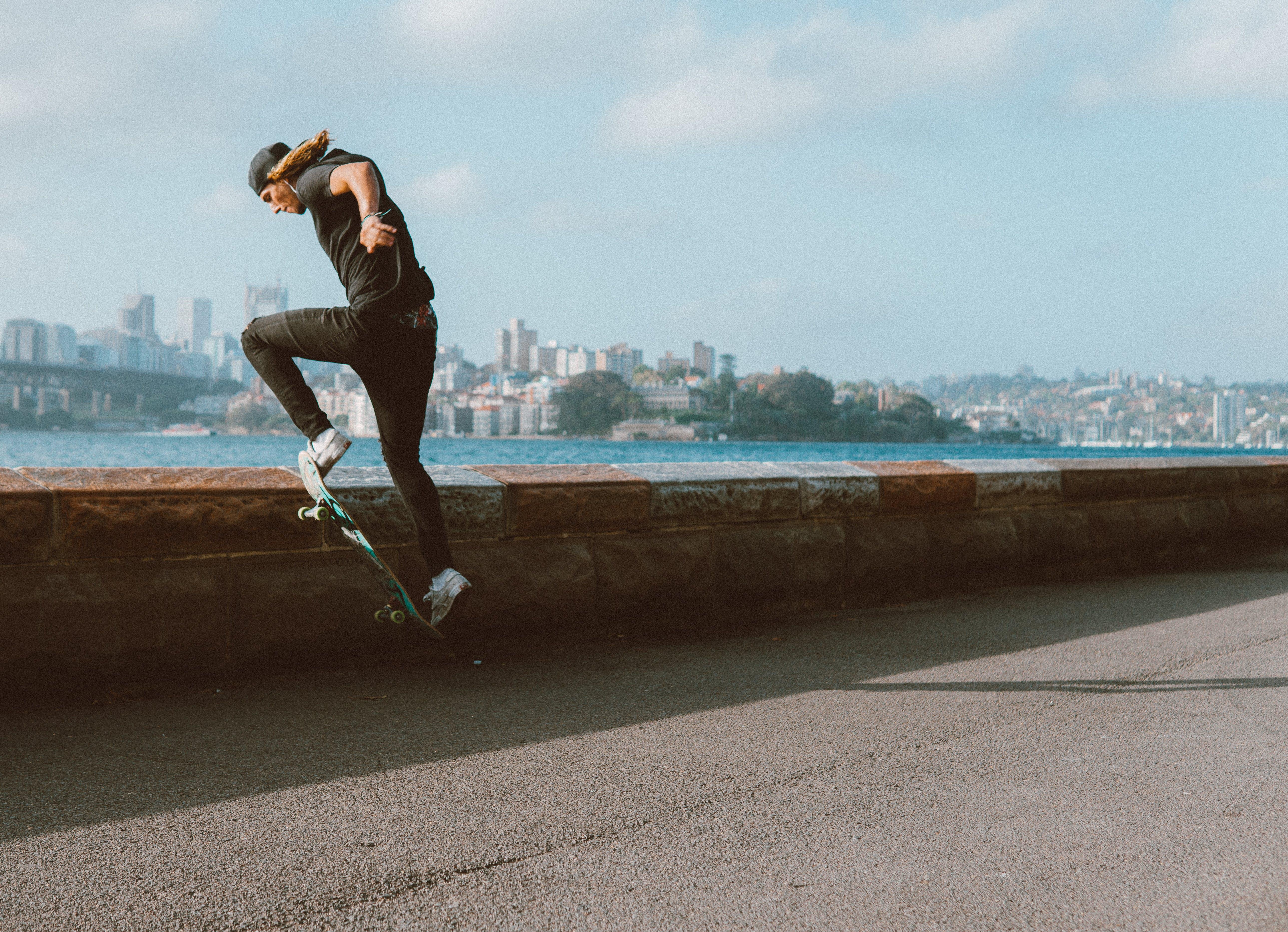 Man Doing Tricks On Skateboard