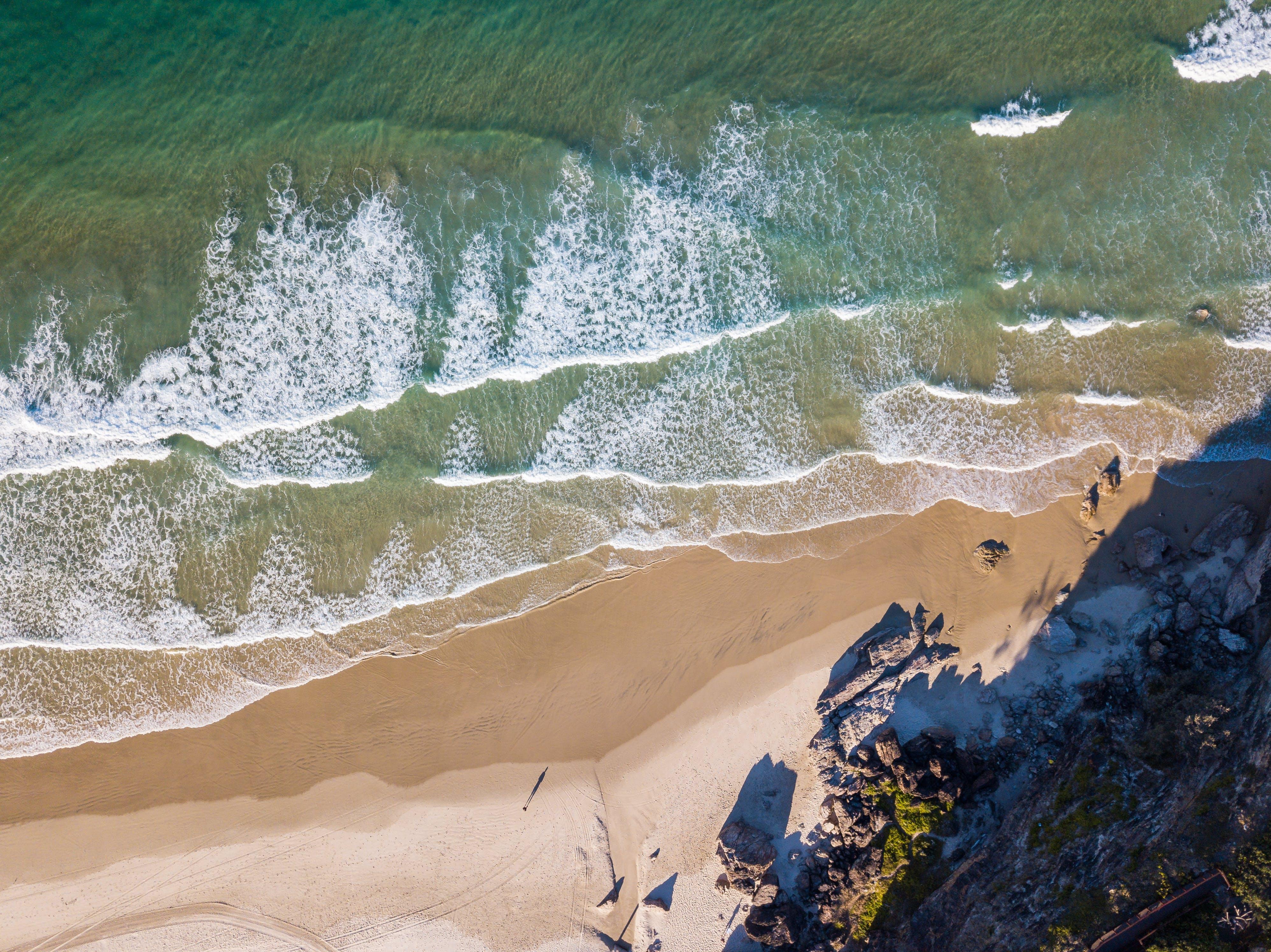 High Angle Photography Of Beach