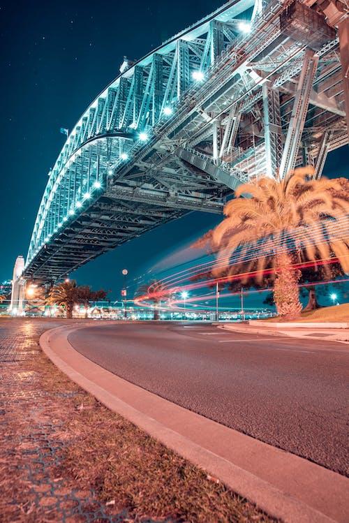 nightphotography, 光跡, 光迹, 城市的燈光 的 免费素材照片