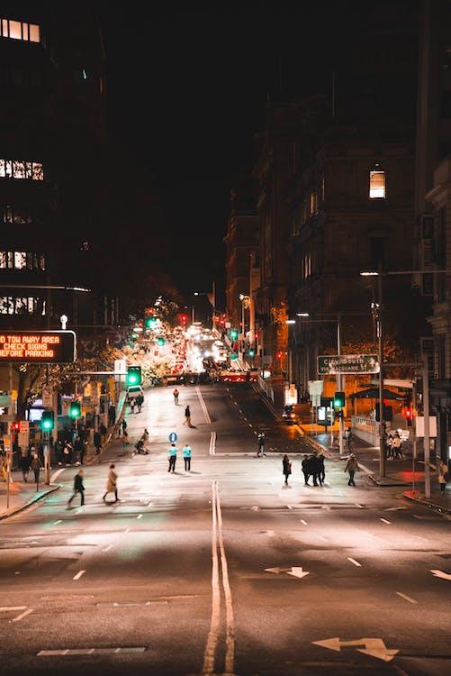 交通信號燈, 人, 城市