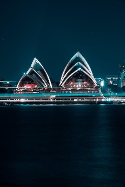 Kostenloses Stock Foto zu abend, architektur, australien, beleuchtet