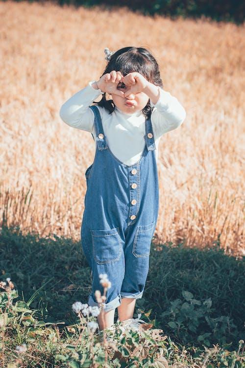 Aziatisch kind, daglicht, dochter