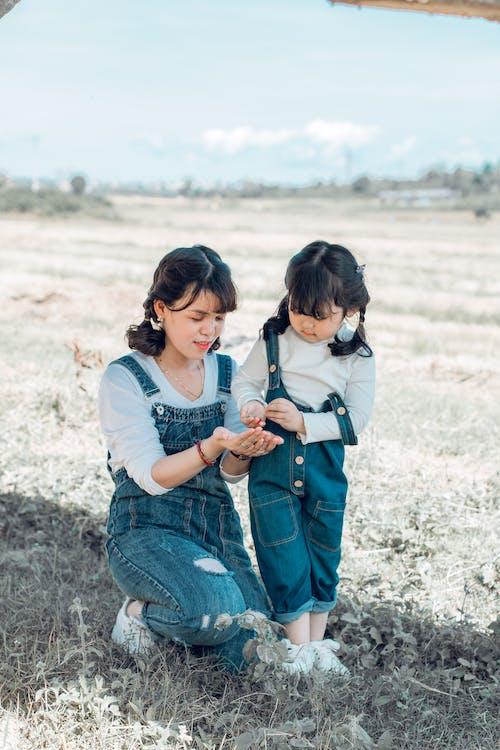 азіатська дитина, батьки, батько і дитина